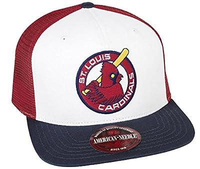 MLB American Needle Pastime Gatekeeper Cooperstown Mesh Back Adjustable Snapback Hat (St. Louis Cardinals)