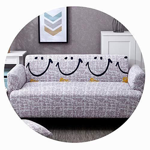 Qianqian Paper Crane Lovely Cats Spandex Sofa Cover Cute Cats Pattern Sectional Couch Cover All Inclusive Couch Cover Furniture Protector,Laughing,Single seat Sofa ()