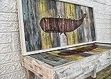 Nautical Whale Bench & Art Set - Luxury Coastal Décor by Beach Dweller Boutique