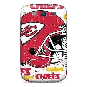 Samsung Galaxy S3 KNT12212eqOC Custom Realistic Kansas City Chiefs Series Best Hard Phone Cases -ChristopherWalsh