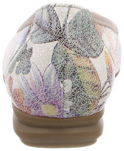Wide Comfort Multicoloured Multicolour Women's Toe Closed Ballet Gabor Sport Flats Fit CqTfwOR