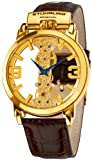 Stuhrling Original Men's 165E.3335K31 Classic Winchester Spire Mechanical Skeleton Gold Tone Watch