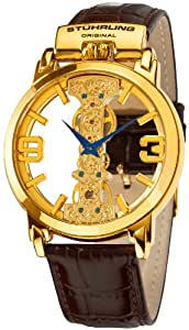 Stuhrling Original 165E.3335K31 - Reloj de mecánico para hombre, con correa de cuero, color marrón