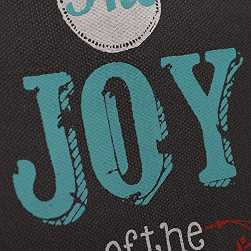 "Retro Blessings ""Joy"" Navy Canvas Tote Bag – Nehemiah 8:10"