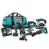 Makita DLX6079M 18V LXT 6Pc Combo 4.0Ah Kit with 2 Batteries