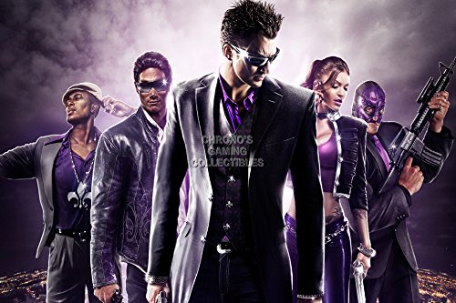 CGC Huge Poster - Saints Row 3 The Third Cover Ps3 Xbox 360 PC