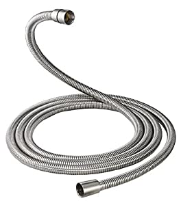 Aquafaucet Brushed Nickel 100 Inch Brass Fittings Extra Long Flexible Stainless Steel Replacement Handheld Shower Hose