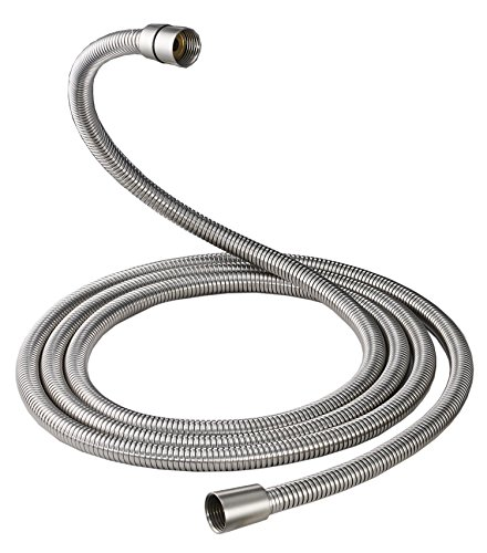 Aquafaucet Brushed Nickel 100 Inch Brass Fittings Extra Long Flexible Stainless Steel Replacement Handheld Shower Hose (Showerhead Function 3' Three)