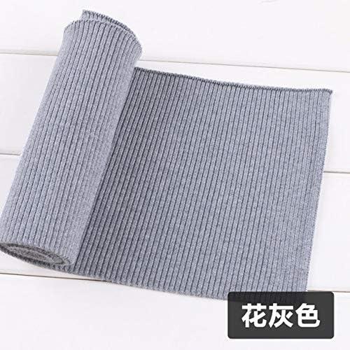 Dark Mid Grey Cotton Elastin Jersey Rib Cuff Half Meter Stretch Waistband Trim