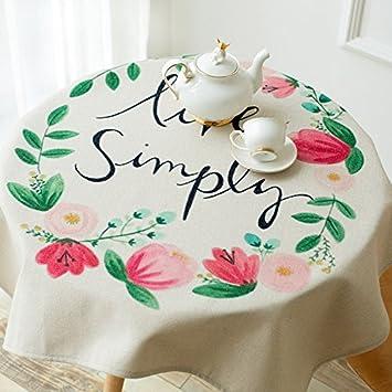 New One Day-Algodón ropa de mesa del gabinete de tela toallas cubiertos mueble de televisión Cubierta de la toalla: Amazon.es: Hogar