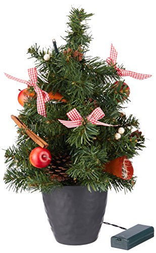 HEITMANN DECO 91822LED Artificial Christmas Tree, Decorated, Height 40cm, Plastic, 24x 24x 42cm, Red ()