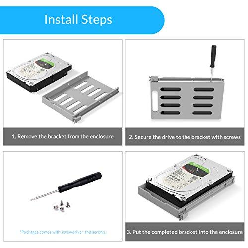 Yottamaster Aluminum Alloy 5 Bay 3.5 Inch USB3.0 RAID External HDD Enclosure SATAIII Support 5 x 10TB & UASP -Silver by Yottamaster (Image #3)