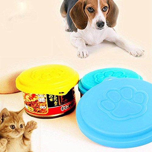 Bazaar Pet Dog Cat Food Cap Bottle Capsule Container Cover Lid Pet Tin Plastic Reusable Storage Cap Top 88m