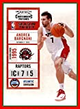 2010-11 Playoff Contenders Patches #66 Andrea Bargnani toronto raptors (87d)