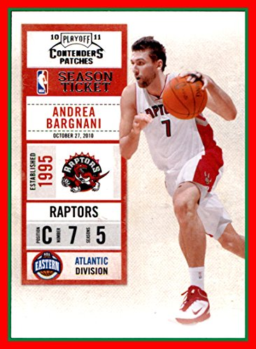 - 2010-11 Playoff Contenders Patches #66 Andrea Bargnani toronto raptors (87d)