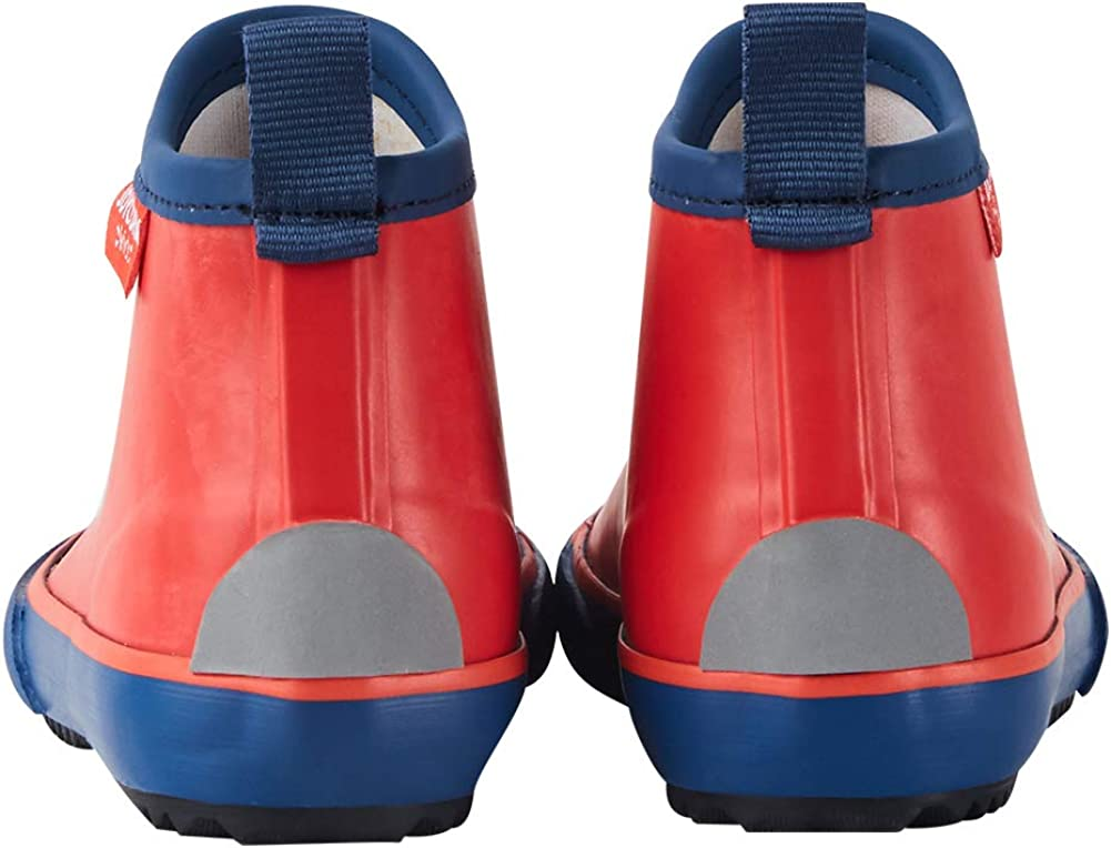 Girls with Handle JOYCORN Little Kids Rain Boots for Toddler Boys Natural Rubber Waterproof Booties Cute Shoes with Soft Fabric Edge