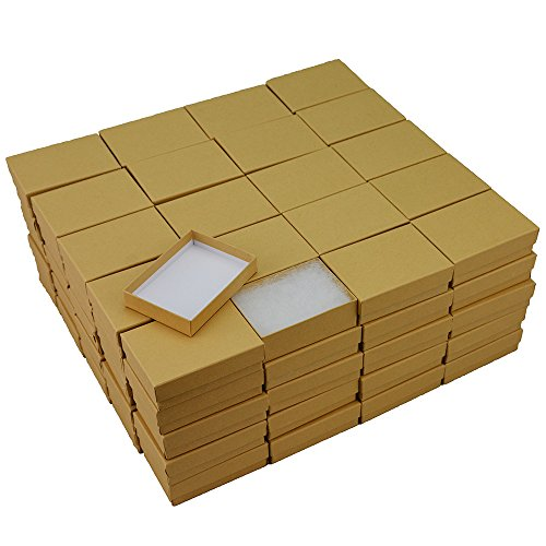 Kraft Cotton Filled Jewelry Box #32 (Case of 100) 100 Kraft Cotton Filled Jewelry