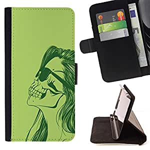Momo Phone Case / Flip Funda de Cuero Case Cover - Cráneo punky de la muchacha;;;;;;;; - Sony Xperia Z3 Compact