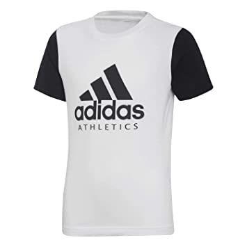 adidas T-Shirt à Manches Courtes pour garçon  Amazon.fr  Sports et ... b3e4fb85c19