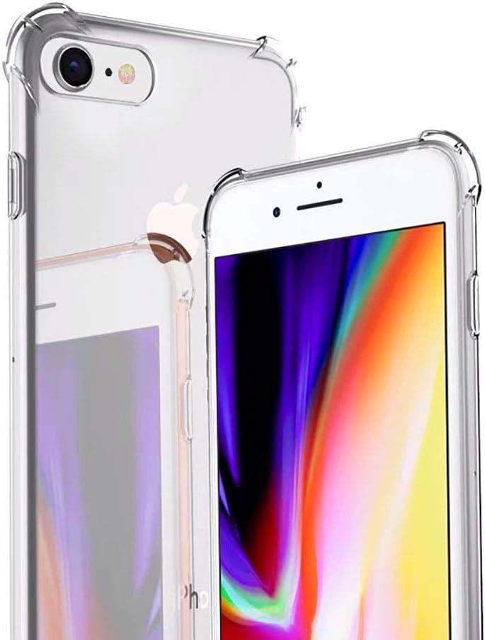 iPhone SE 2020 Clear Case, iPhone 8 Clear case, iPhone 7 Clear Case, Liquid Shockproof Bumper Crystal Cover
