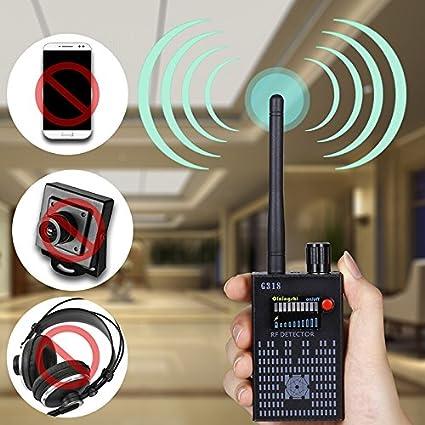 hangang Amplification Señal Detector Detector RF Bug Camera Wireless Bug Cámara Inalámbrica Detector Frecuencia de Equipo