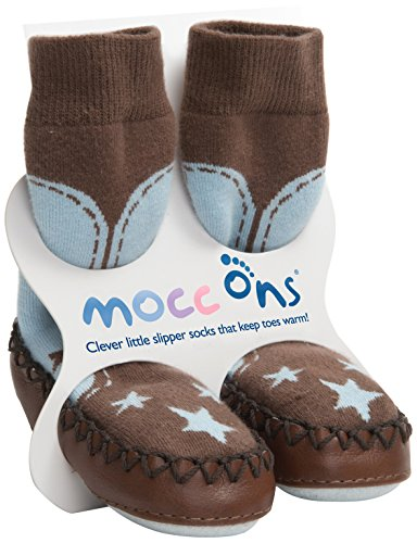 Mocc Ons Cute Moccasin Style Slipper Socks  Cowboy   18 24 Months
