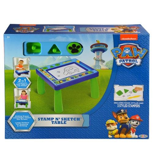 Nickelodeon Patrol Code Paw Stamp N' Sketch Play Table Magnetic by Nickelodeon