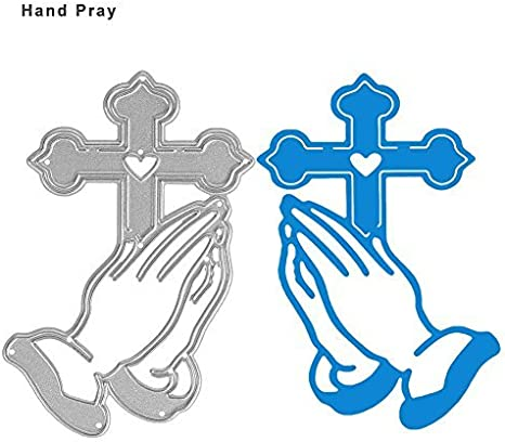 PRAYING HANDS WITH CROSS die cuts scrapbook cards