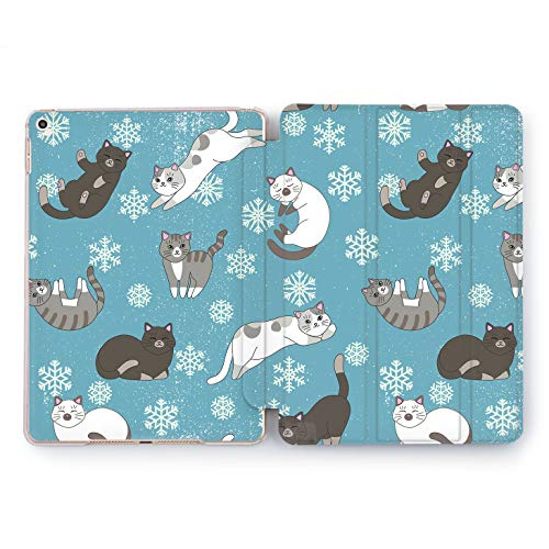Wonder Wild House Cats Apple iPad Pro Case 9.7 11 inch Mini 1 2 3 4 Air 2 10.5 12.9 2018 2017 Design 5th 6th Gen Clear Smart Hard Cover Animals Winter Snowflakes Kittens Furry Meow House Pet Girly