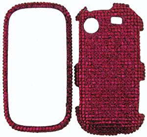 FULL DIAMOND CRYSTAL STONES COVER CASE FOR SAMSUNG MESSAGER TOUCH R630 / R631 HOT PINK
