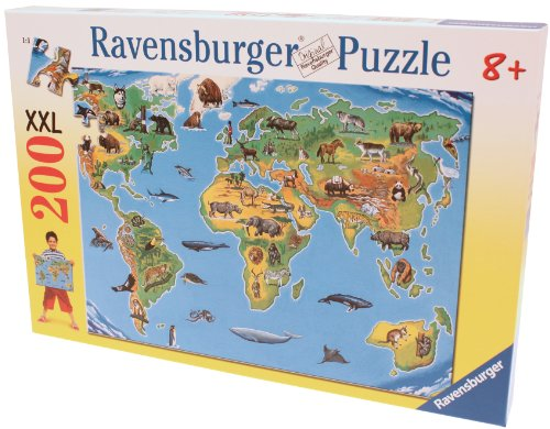 Ravensburger World Map Xxl Jigsaw Puzzle (200 Pieces)