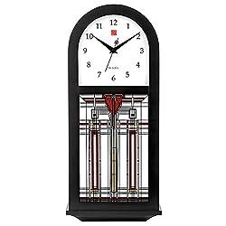 Bulova Frank Lloyd Wright Thistle in Bloom Wall Clock, 15.75, Espresso