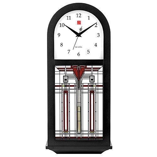 Bulova Harley Bradley C4836 Frank Lloyd Wright Thistle in Bloom Chiming Wall Clock 15.75