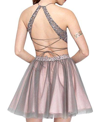 Damen Braun Kleid A Fanciest Linie 4xvPRWqd