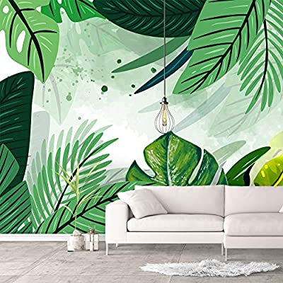 Delightful Object of Art, Wall Murals for Bedroom Green Plants Animals Removable Wallpaper Peel and Stick Wall Stickers, Quality Creation
