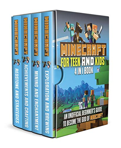 Minecraft for Teens and Kids: 4 in 1 book, An Unofficial beginner's Guide to become The God of Minecraft by [Fouler, Robert]