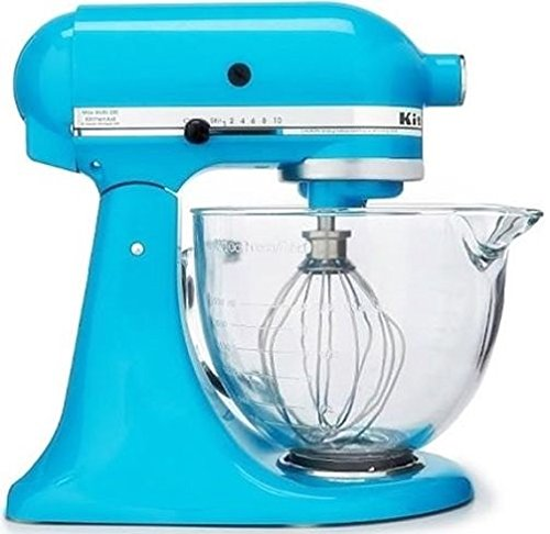 KitchenAid 5-Qt. Tilt-Head Stand Mixer with Glass Bowl and Flex Edge Beater - Crystal Blue by KitchenAid (Image #1)