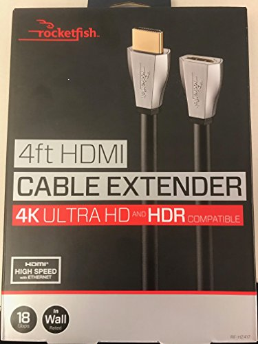 Rocketfish 4ft HDMI Cable Extender 4k Ultra HD and HDR Compatible