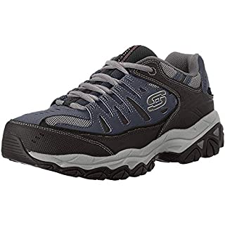 Skechers Sport Men's Afterburn Memory Foam Lace-Up Sneaker, Navy, 7 M US