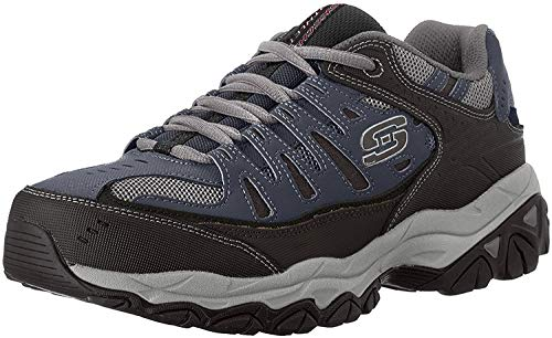 Skechers Sport Men's Afterburn Memory Foam Lace-Up Sneaker, Navy, 7.5...
