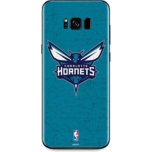 (NBA Charlotte Hornets Galaxy S8 Skin - Charlotte Hornets Distressed-Aqua Vinyl Decal Skin For Your Galaxy)