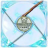 サイズ 光る鎌風の風PWM 120mm(4ピンPWM接続ケースファン12cm青色LED発光タイプ) DFS122512L-PWM-LED