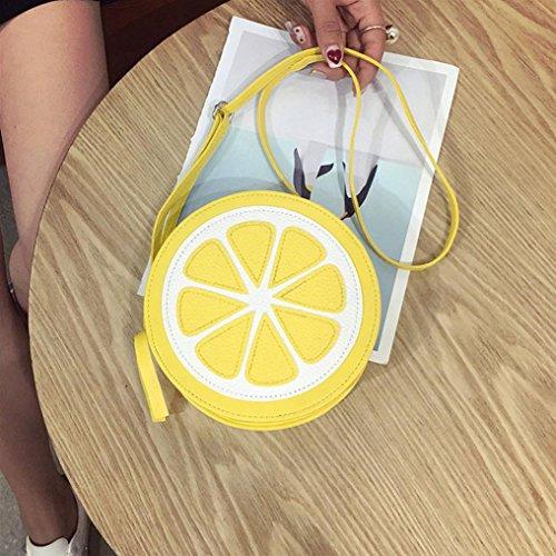 Coin 2017 Phone Yellow Lemon Personality New HCFKJ Bag Bag Fashion Arrival Round Messenger Shoulder qSnvYPO