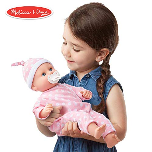 (Melissa & Doug Mine to Love Twins Luke & Lucy Dolls (Pretend Play, Baby Dolls, 15 Inches))