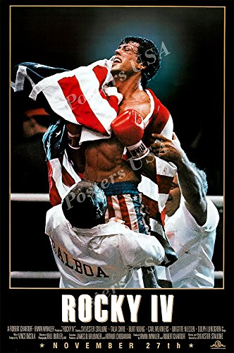 Posters USA Rocky IV 4 Movie Poster GLOSSY FINISH - MOV023 )