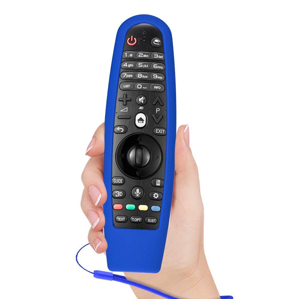AN-MR650A SIKAI Antiurto Custodia Protettiva con Silicone Compatibile con Telecomando LG AN-MR600 AN-MR18BA LED TV Remote Control Lightweight Rubber Gel Protettiva Cover AN-MR650 Luminoso Blu
