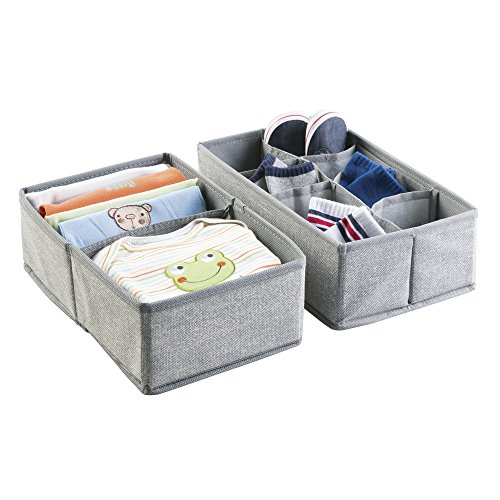 mDesign Fabric Nursery Organizer Clothes