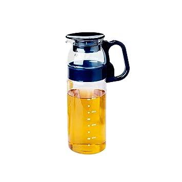 Vidrio Resistente al Calor, Botella de Agua fría de Verano, Botella de Agua fría Creativa, Gran Capacidad 1300ML, Resistente a la luz y al Calor JXLBB: ...
