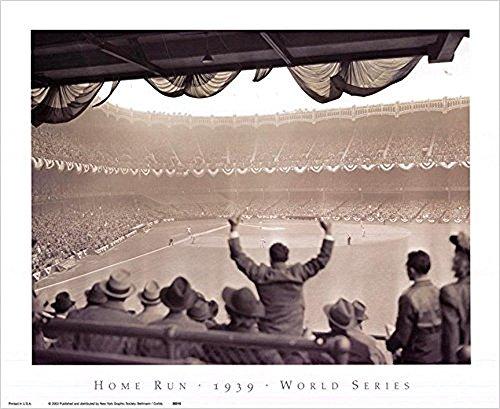 Buyartforless Yankee Stadium - Home Run 1939 World Series New York Yankees vs. Cincinnati Reds 16x13 Vintage Photograph Art Print Poster