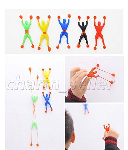 VIPASNAM-Toys 3pcs Color Random Flexible Men Sticky Wall Climbing Flip Spider Man For Kid
